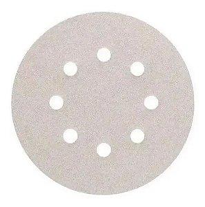 Kit C/ 10 Disco Lixa C/velcro Pluma Branco 125mm Disflex