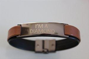 Pulseira Masculina - I'M A DIAMOND