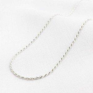 Corrente Prata Corda de 1,2 mm com 50 cm