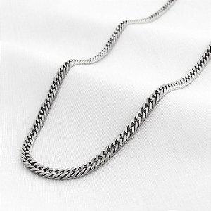 Corrente de Aço Groumet Elos Trançados de 2,8 mm com 70 cm