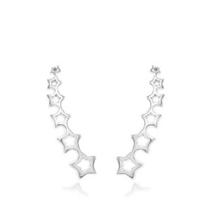 Brinco Ear Cuff Estrelas Prata 925