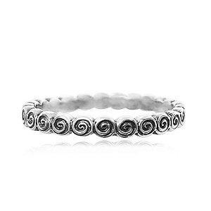 Anel de Prata Espiral