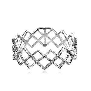 Anel de Prata Geométrico