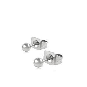 Brinco de Aço Bola Lisa 3,7 mm