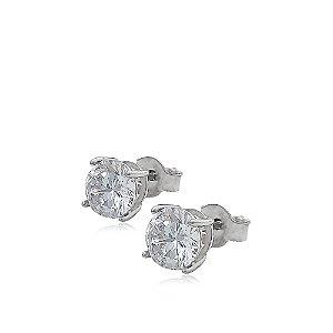 Brinco de Prata Ponto de Luz com 5,7 mm