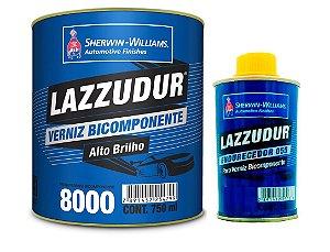 VERNIZ BICOMPONENTE 8000 (0,75L) + CATALISADOR (0,15L) LAZZURIL