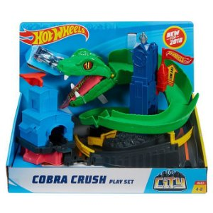 Pista Hot Wheels City Ataque Da Cobra Dc