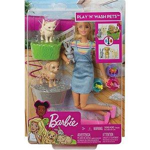 Barbie Banho de Cachorrinhos
