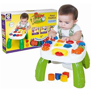 Brinquedo Infantil Mesa Didática Play Time Com Atividades