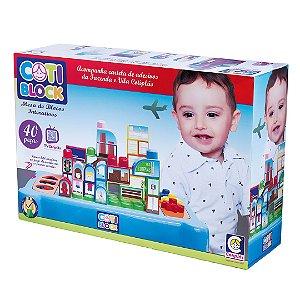 Brinquedo Infantil Mesa De Blocos Interativos Coti Block