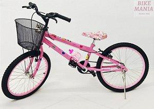 Bicicleta Aro 20 Lol Grafitada com Cesta