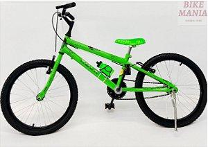 Bicicleta Aro 20 Hulk com Pézinho com Garrafinha de Brinde.