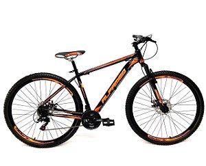 Bicicleta Aro 29 Mountain Bike Alfameq Cambios Shimano Laranja