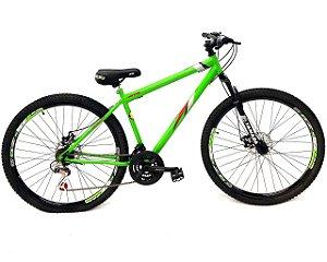 Bicicleta Aro 29 Mountain Bike Freio Disco Gts Verde