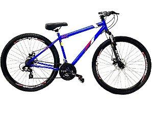 Bicicleta Aro 29 Mountain Bike Freio A Disco Gts Azul