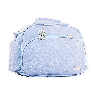 Bolsa Maternidade Matelassê Azul Claro - Baby Bless