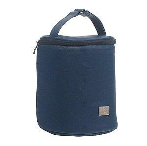Porta Mamadeira Térmico Com Gel Azul Marinho - Hey Baby