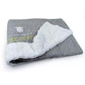 Cobertor Matelassê com Pelúcia Retro Unicórnio - Coração de Mãe