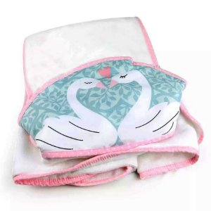 Toalha de Banho com Capuz Cisne - Coração de Mãe