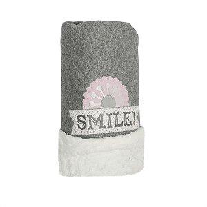 Cobertor Matelassê com Pelúcia Flores - Coração de Mãe