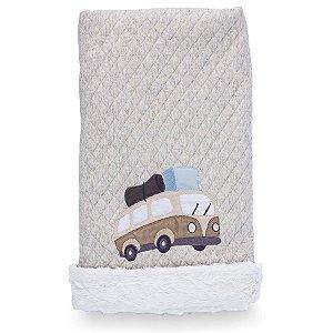 Cobertor Matelassê com Pelúcia Mundo - Coração de Mãe