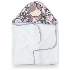 Toalha de Banho com Capuz Buquê - Coração de Mãe