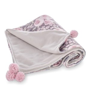 Manta para Bebê Soft Dupla Face Buquê - Coração de Mãe