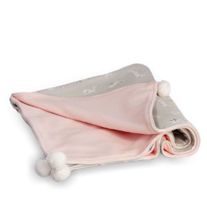 Manta para Bebê Soft Dupla Face Diamante Rosa com Verde - Coração de Mãe