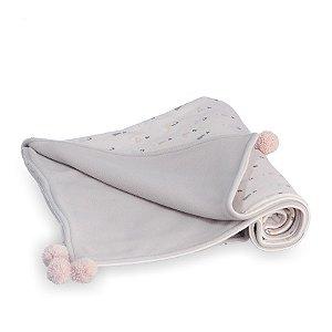 Manta para Bebê Soft Dupla Face Casinha Rosê - Coração de Mãe