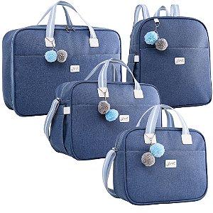 Kit Bolsas de Maternidade Color Azul - Just Baby (4 peças)