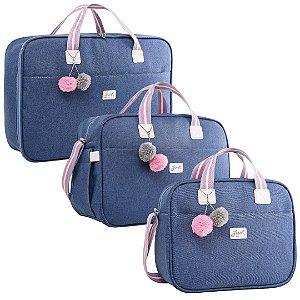 Kit Bolsas de Maternidade Color Rosa - Just Baby (3 peças)