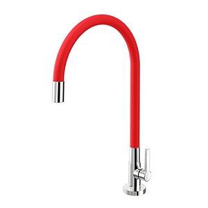 Torneira para cozinha de mesa Docol Galiflex vermelha - 00966979