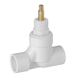 Registro BaseTec Docol PVC cerâmico 1/2 volta - 25mm - 00494700