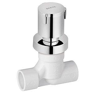 Registro BaseTec PVC cerâmico com acabamento Docol Riva - 00515406