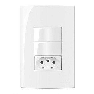 Conjunto MarGirius Sleek 2 Interruptores Simples + Tomada 2P+T - 15993