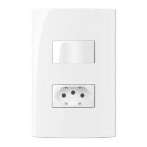 Conjunto MarGirius Sleek 1 Interruptor Simples 10A + 1 Tomada 2P+T 10A - 15997
