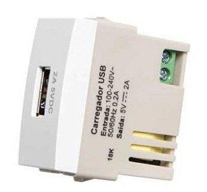 Tomada carregador USB 2A bivolt MarGirius Sleek - 17261