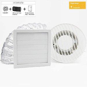 Exaustor para Banheiro Sicflux Mega 16 Bivolt (125mm) - Kit completo