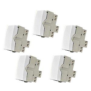 5 Interruptores pulsadores MarGirius Sleek 10A