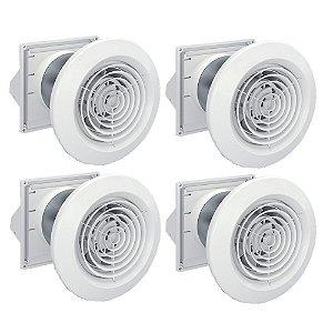 4 Insufladores de ar compactos Sicflux Splitvent Bivolt (100mm)