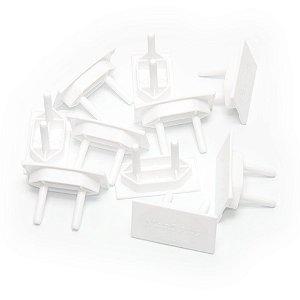 Kit Protetor de Tomada MarGirius Branco - 10 unidades