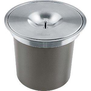 Lixeira de sobrepor Redonda Franke 5 litros - 16168