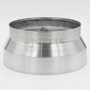 Adaptador redutor de duto de 150 para 125mm - em alumínio