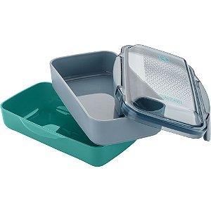 Marmita Lunch Box Electrolux com divisória - Verde