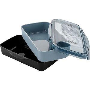 Marmita Lunch Box Electrolux com divisória - Preta