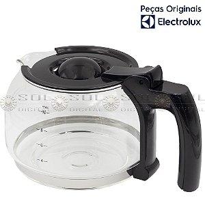 Jarra de Vidro 1,25 L Original para Cafeteira Electrolux CME11 com tampa preta