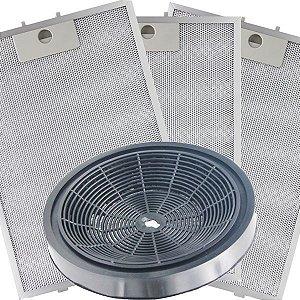 KIT Filtros para Depurador Electrolux Digital DE80T - Carvão e Metálicos
