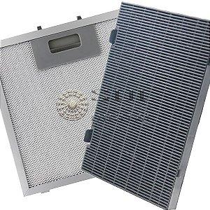 Kit Filtros para Coifa Electrolux HomePRO 90BS - Carvão e Metálico