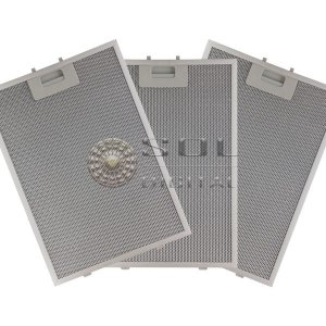 3 Filtros Metálicos para Coifa Electrolux 90CIT Ilha