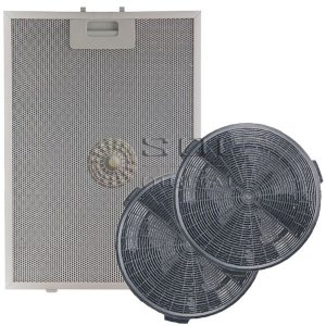 Kit Filtros para Coifas Electrolux 60CV e 90CV - Carvão e Metálico